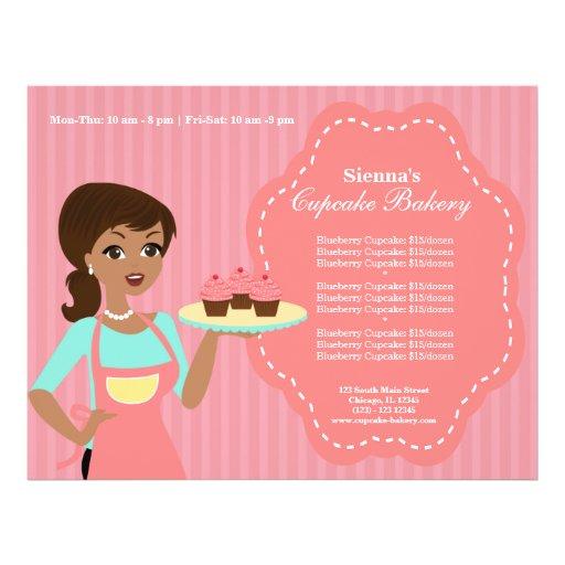 Padaria do cupcake modelo de panfleto