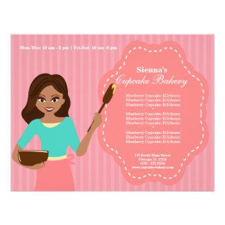 Padaria do cupcake panfleto personalizados