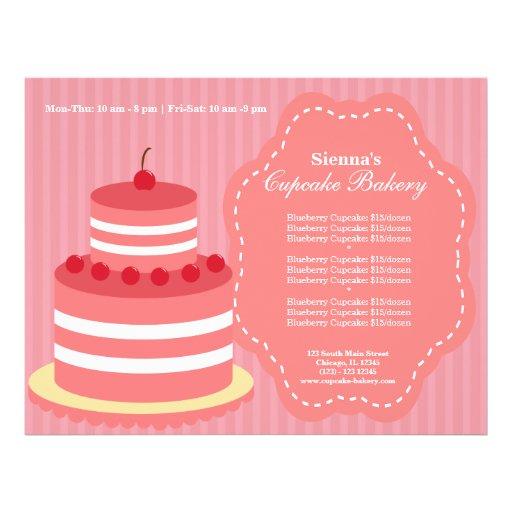 Padaria do cupcake modelo de panfletos