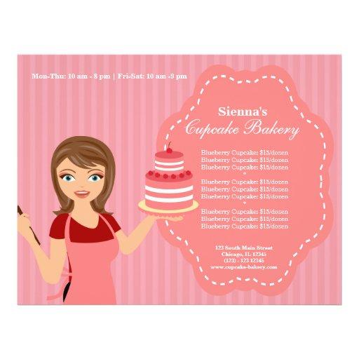Padaria do cupcake panfleto coloridos