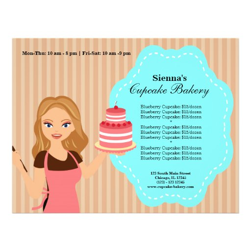 Padaria do cupcake panfletos coloridos