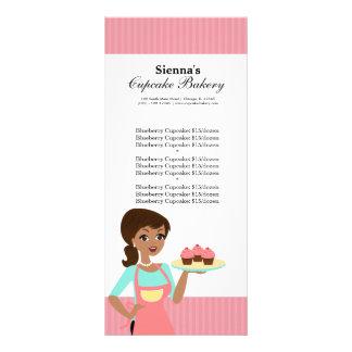 Padaria do cupcake planfetos informativos coloridos