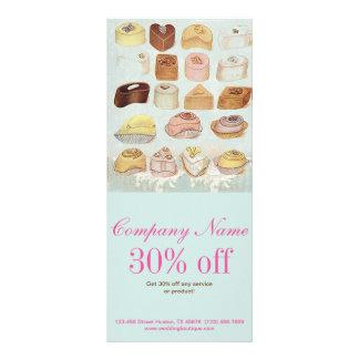 padaria doce bonito dos biscoitos do chocolate da 10.16 x 22.86cm panfleto
