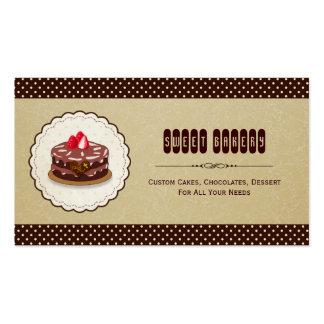 Padaria doce - o costume endurece pastelarias dos cartão de visita
