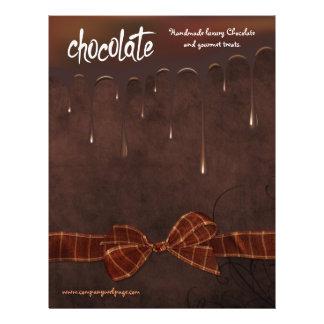 Padaria e insecto da venda do assar de Chocolatier Flyer 21.59 X 27.94cm