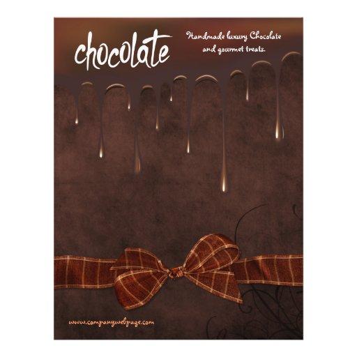 Padaria e insecto da venda do assar de Chocolatier Panfletos Coloridos