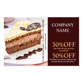 Padaria moderna do café do pão da sobremesa panfleto personalizados