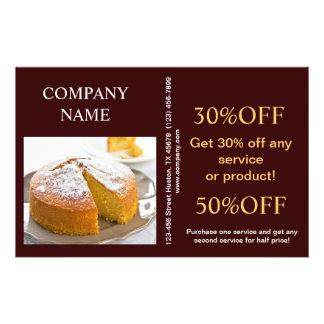 Padaria moderna do café do pão da sobremesa panfleto personalizado