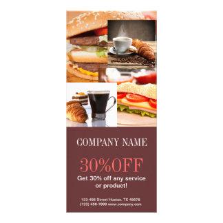 Padaria moderna do café do pão da sobremesa modelos de panfletos informativos