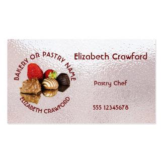 Padaria ou loja do bolo dos doces da pastelaria cartão de visita