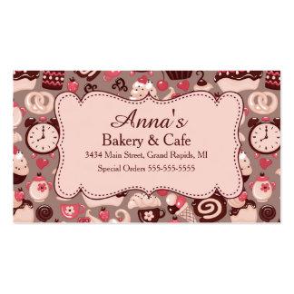 Padaria & rosa & chocolate do café cartão de visita