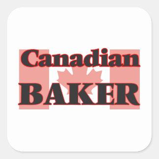 Padeiro canadense adesivo quadrado