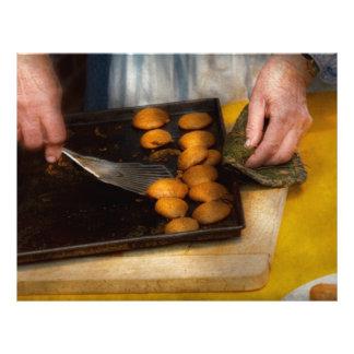 Padeiro - comida - tenha alguns biscoitos caros panfleto coloridos