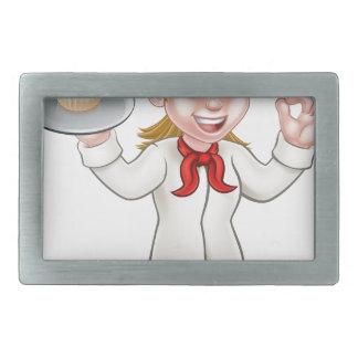 Padeiro da mulher dos desenhos animados ou