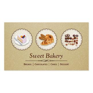 Padeiro da padaria - sobremesa dos bolos de cartão de visita