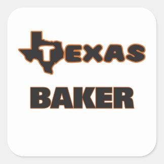 Padeiro de Texas Adesivo Quadrado