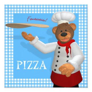 Padeiro Dinky da pizza dos ursos Convite
