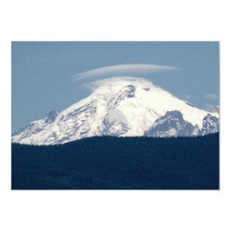 Padeiro do Mt com nuvem Convite 12.7 X 17.78cm