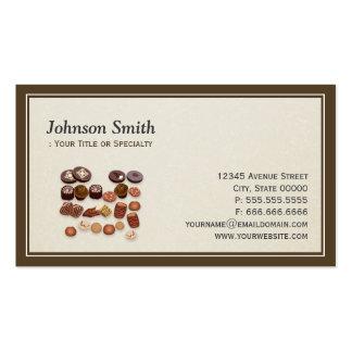 Padeiro doce dos chocolates da padaria - elegante cartão de visita