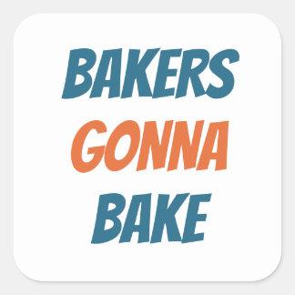 Padeiros que vão cozer a etiqueta da padaria