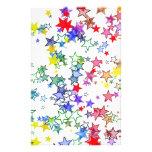padrão com estrelas papelaria