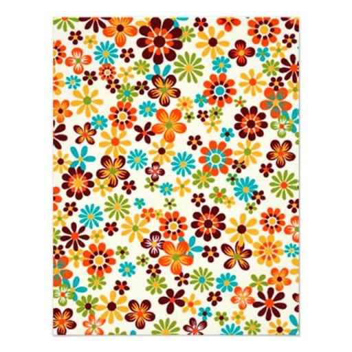 padrão com flores convite personalizados