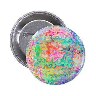 Padrão de cores, botão redondo da polegada de 2 ¼ bóton redondo 5.08cm