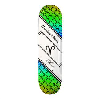 Padrão do símbolo do zodíaco do Aries Shape De Skate 18,1cm