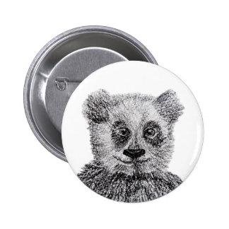 Padrão do sorriso do urso de panda, botão redondo bóton redondo 5.08cm