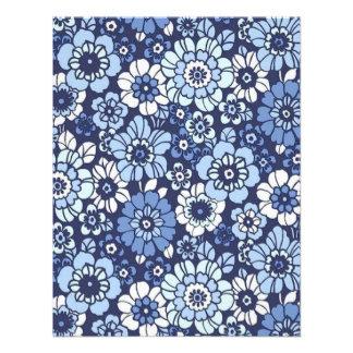 padrão floral convite personalizado