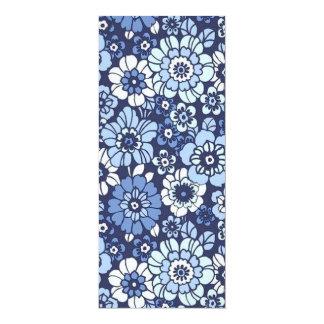 padrão floral convite 10.16 x 23.49cm