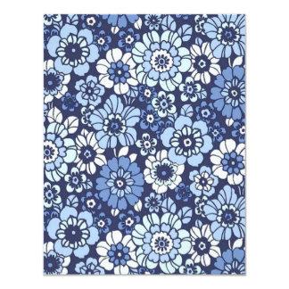 padrão floral convite 10.79 x 13.97cm