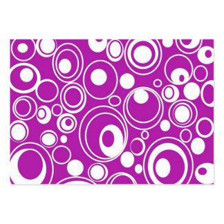 padrão geometrico de circulos cartão de visita grande