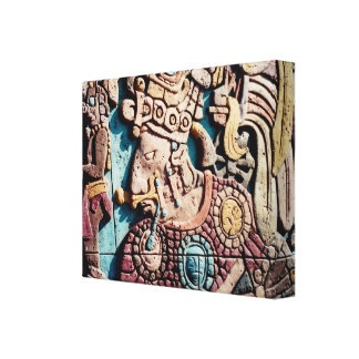 Padre alto indiano asteca que cinzela canvas
