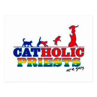 Padres católicos cartão postal