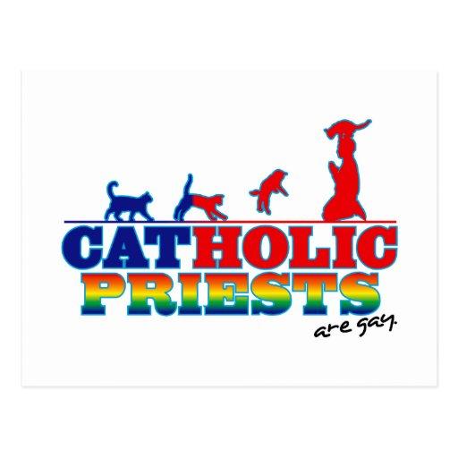 Padres católicos cartoes postais