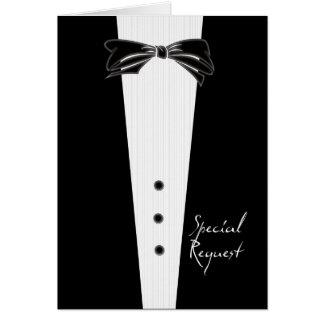 Padrinho de casamento do traje de cerimónia cartão comemorativo