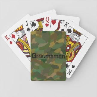 Padrinho de casamento padrão da camuflagem do jogo de baralho