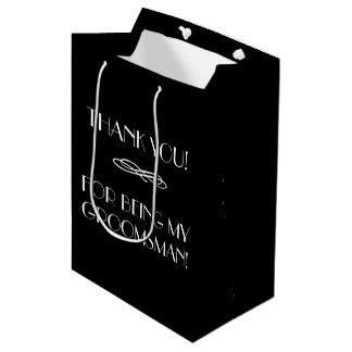 Padrinhos de casamento ou o melhor obrigado do sacola para presentes média
