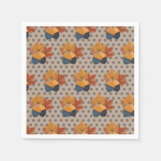 Padrões bonitos da bolota do outono guardanapo de papel