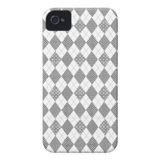 Padrões clássicos brancos pretos na moda retros de capa para iPhone