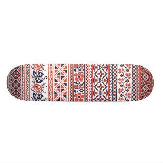 Padrões do design do ponto de cruz shape de skate 20,6cm