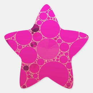 Padrões fluorescentes do abstrato do rosa adesito estrela