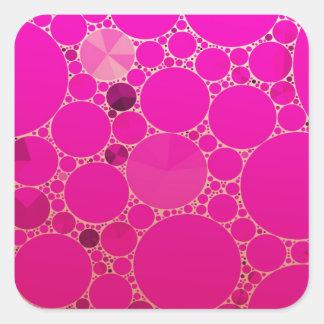 Padrões fluorescentes do abstrato do rosa adesivo quadrado