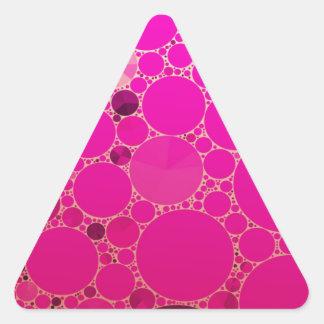 Padrões fluorescentes do abstrato do rosa adesivo triangular