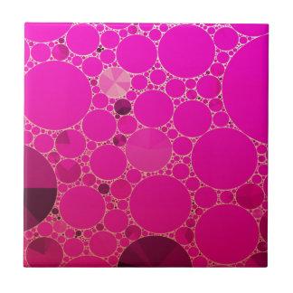 Padrões fluorescentes do abstrato do rosa azulejo quadrado pequeno