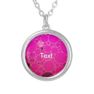 Padrões fluorescentes do abstrato do rosa colar com pendente redondo