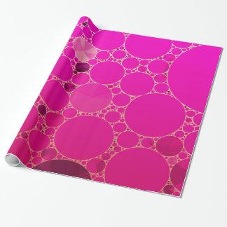 Padrões fluorescentes do abstrato do rosa papel de presente