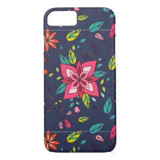 Padrões vibrantes florais e do pássaro capa iPhone 8/ 7