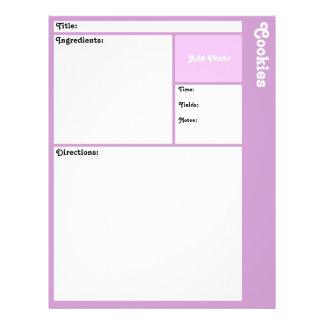 Página da receita (luz - roxo) flyer 21.59 x 27.94cm